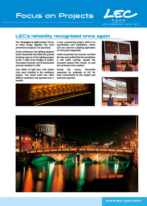 LEC Focus on Projects | LEC's reliability recognised once again