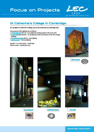 LEC Focus on Projects | St Catherine's College in Cambridge