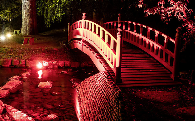 <p>LEC 4040 (and 4020) projectors illuminate the bridges, water features and the Japanese pavilion.</p>